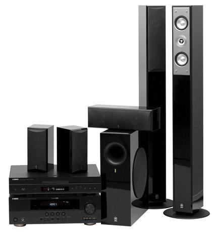 Референсный комплект от Yamaha: Blu-ray-проигрыватель BD-S1065, AV-ресивер RX-V565, акустика 5.0 NS-PC210, активный сабвуфер NS-SW210