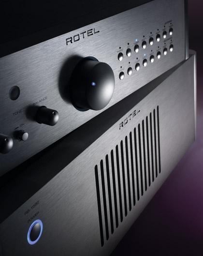 Предварительный усилитель Rotel RС-1580. Усилитель мощности Rotel RB-1582
