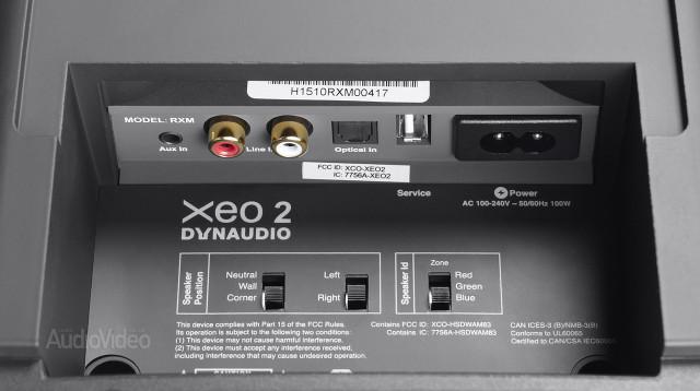 Dynaudio XEO 2 разъёмы