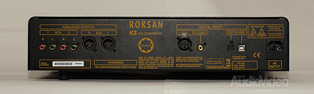 Roksan_K3 DAC rear