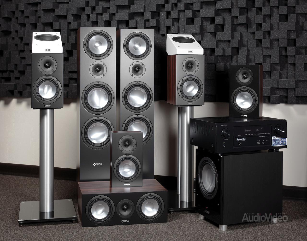 AV-ресивер Denon AVR-X2300W и комплект акустики Canton GLE