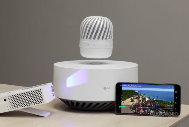 Видеопроектор LG PH30JG со смартфоном LG V30 + и колонкой LG PJ9