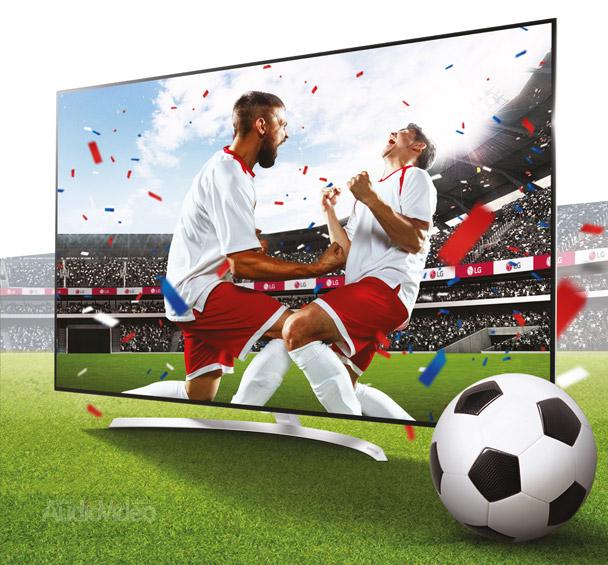Футбол в 4K на телевизорах LG